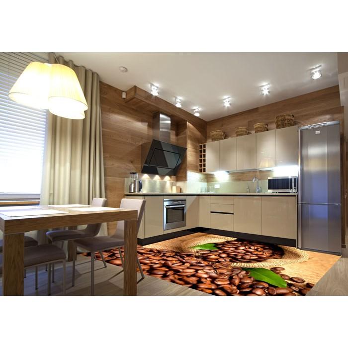 bodenaufkleber kaffeebohnen 255 x 170 cm dimex. Black Bedroom Furniture Sets. Home Design Ideas