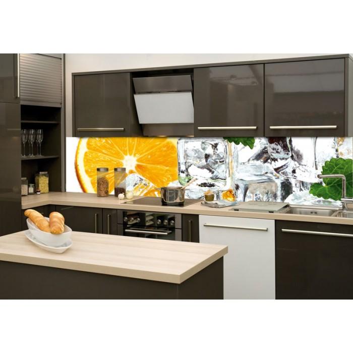 k chenr ckwand glas zitrone und eis dimex. Black Bedroom Furniture Sets. Home Design Ideas