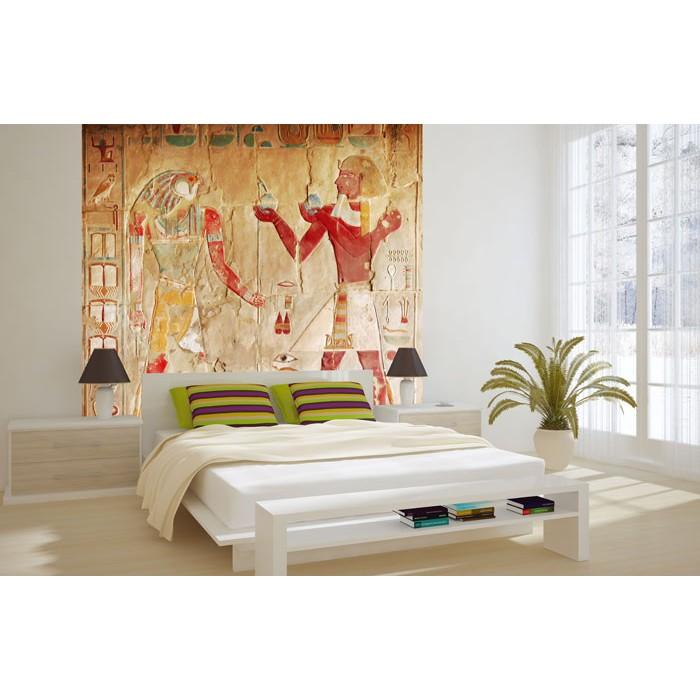 Vlies Fototapete - Ägyptisches Gemälde 220 x 220 cm   dimex-line.de