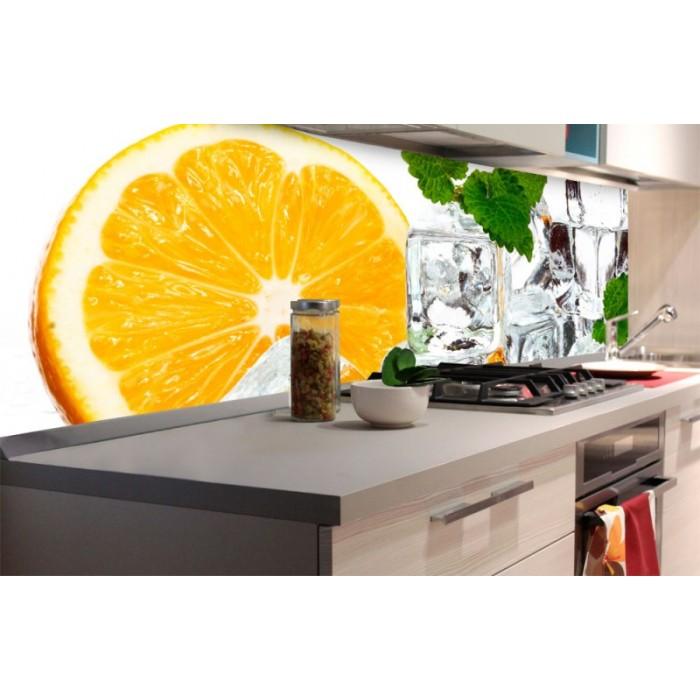 Kuchenruckwand Folie Zitrone Und Eis 180 X 60 Cm Dimex Line De