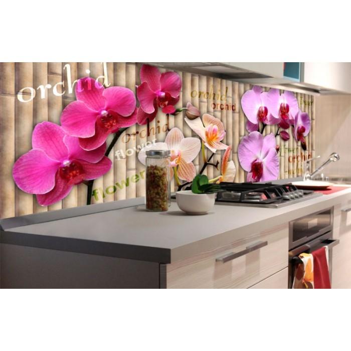 K chenr ckwand folie orchidee 180 x 60 cm dimex for Kuchenruckwand folie selbstklebend