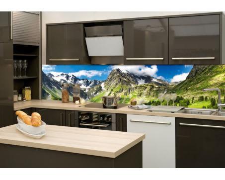 Küchenrückwand Glas - Gebirge | dimex-line.de