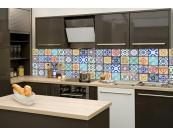 K chenr ckwand folie azulejos 260 x 60 cm dimex for Kuchenruckwand folie