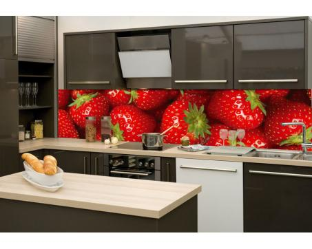 K chenr ckwand folie erdbeeren 260 x 60 cm dimex for Kuchenruckwand folie selbstklebend