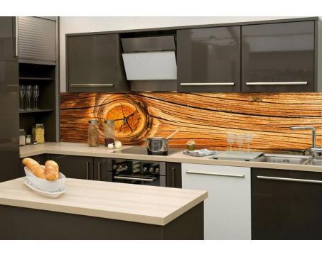 K chenr ckwand folie holz knoten 260 x 60 cm dimex for Kuchenruckwand holz