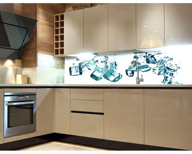k chenr ckwand folie eisw rfel 180 x 60 cm dimex. Black Bedroom Furniture Sets. Home Design Ideas