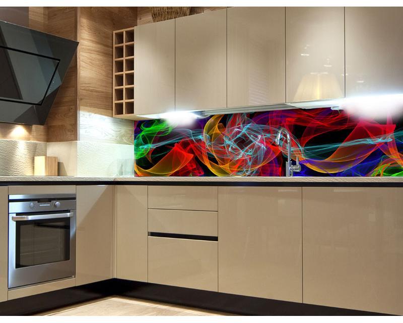 k chenr ckwand folie elegante linien 180 x 60 cm dimex. Black Bedroom Furniture Sets. Home Design Ideas
