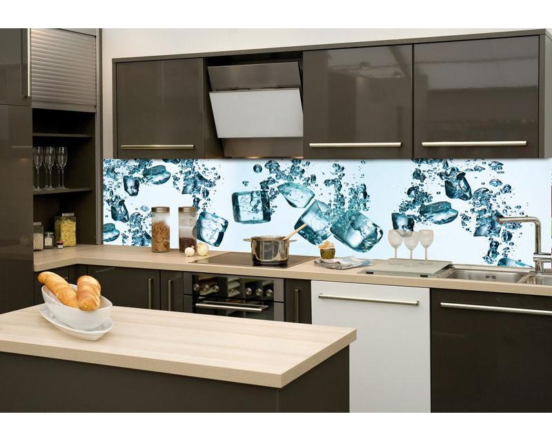 Küchenrückwand Folie - Eiswürfel 260 X 60 Cm