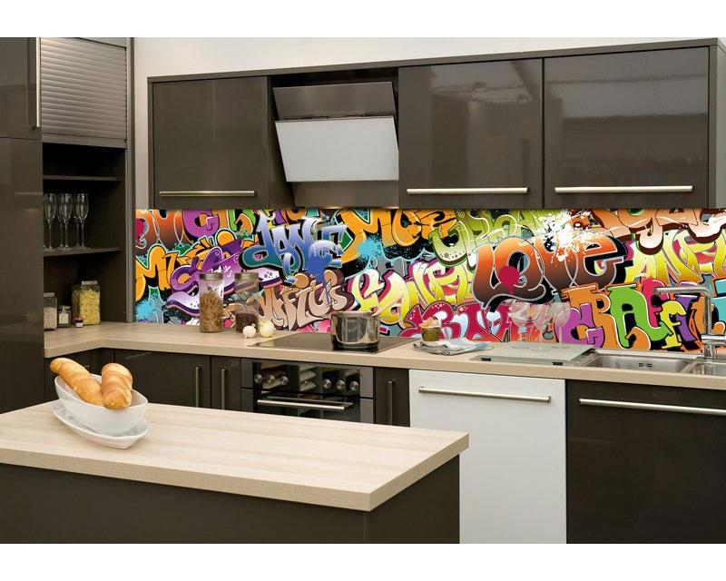 k chenr ckwand folie graffiti 260 x 60 cm dimex. Black Bedroom Furniture Sets. Home Design Ideas