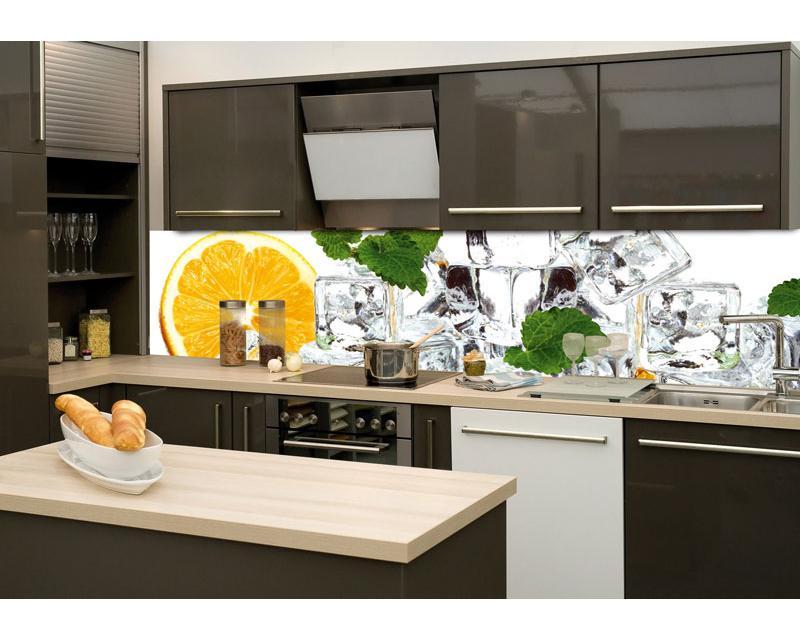 Retro Kühlschrank Folie : Küchenrückwand folie zitrone und eis cm dimex line
