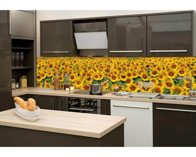 Küchenrückwand Folie - Sonnenblumenfeld 260 x 60 cm | dimex-line.de