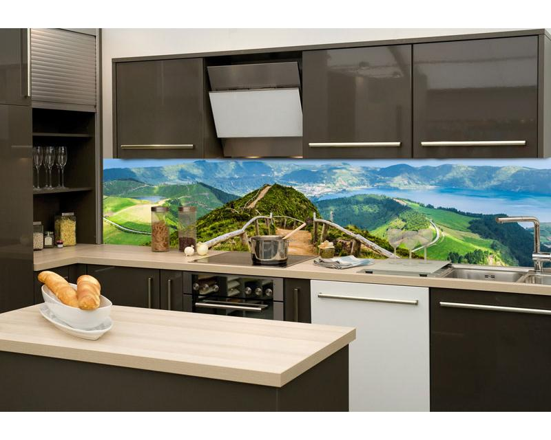 K chenr ckwand folie wanderweg 260 x 60 cm dimex for Kuchenruckwand folie