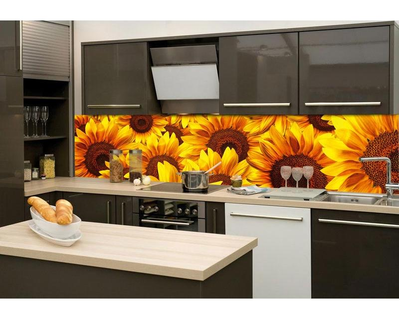 K chenr ckwand folie sonnenblumen 260 x 60 cm dimex - Kuchenruckwand holz ...