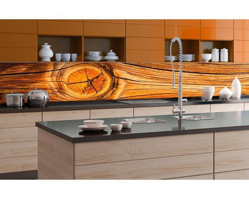 Küchenrückwand Folie - Holz Knoten 350 x 60 cm | dimex-line.de