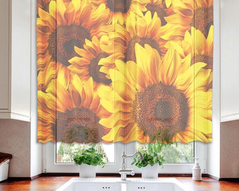 Gardinen - Sonnenblume 140 x 120 cm   dimex-line.de