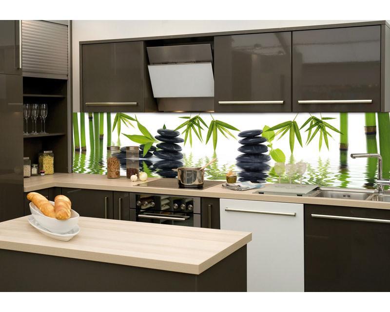 Küchenrückwand Glas - Zen Steine | Dimex-Line.De