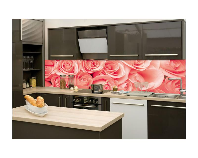 k chenr ckwand glas rosen dimex. Black Bedroom Furniture Sets. Home Design Ideas