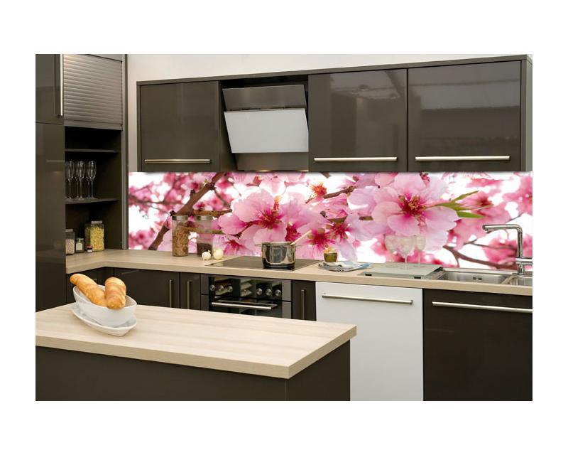 Küchenrückwand Glas   Apfelblüte