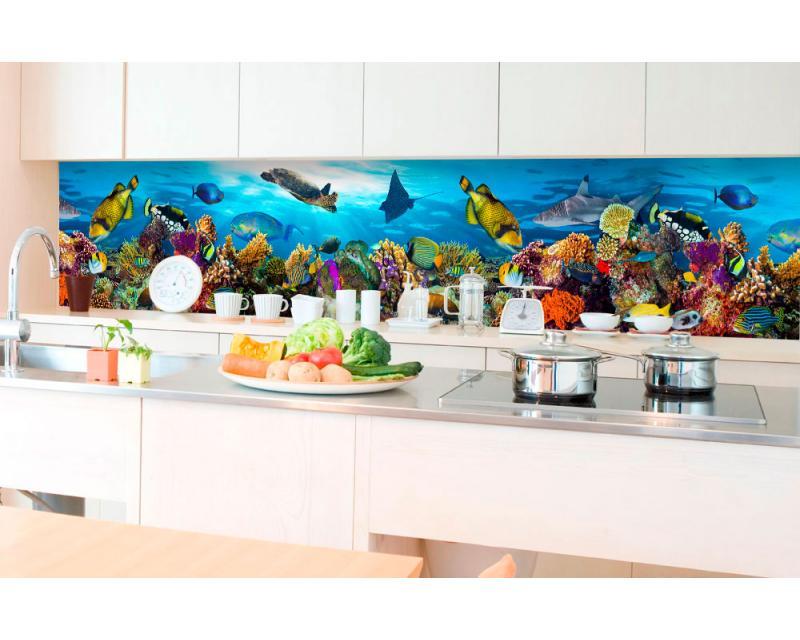 Küchenrückwand Folie - Fische im Ozean 350 x 60 cm | dimex ...