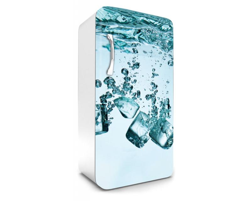 Kühlschrank Aufkleber Eiswürfel 65 x 120 cm