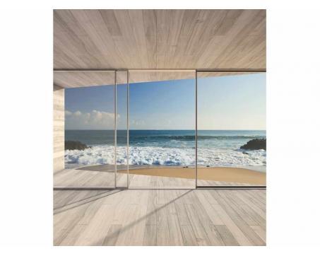 Vlies Fototapete Fenster Auf Strand 225 X 250 Cm Dimex Line De