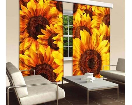 Vorhang - Sonnenblumen 280 x 245 cm   dimex-line.de